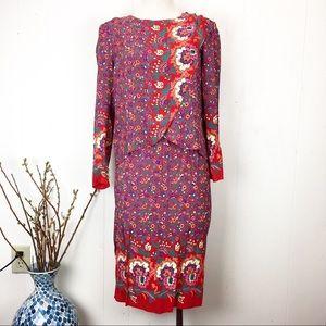 Vintage Skirts - Vintage M.E. II by Lucero 2-Piece Skirt Set